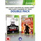 Боевик / Action  Tom Clancy's Splinter Cell Double Agent & Tom Clancy's Rainbow Six Vegas Double Pack [Xbox 360, англ.]